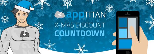 Christmas Discount Countdown in der Weihnachtszeit